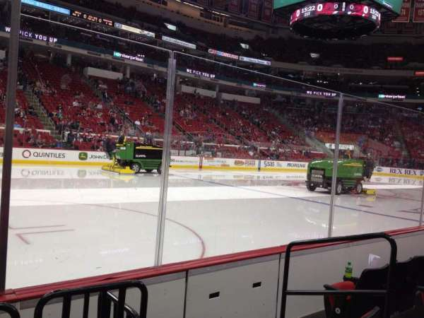 PNC Arena, section: 107, row: D, seat: 4