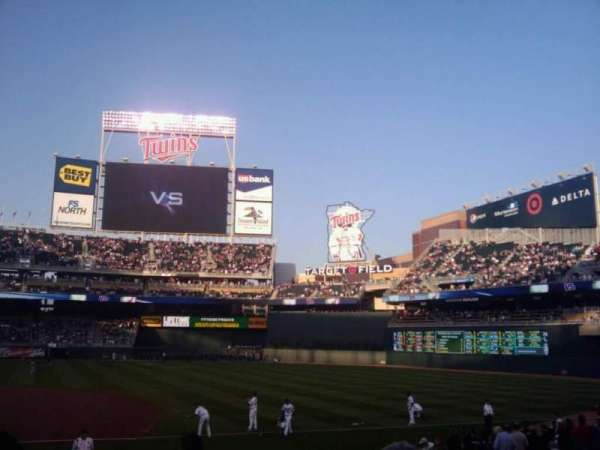Target Field, section: 103, row: 27, seat: 8
