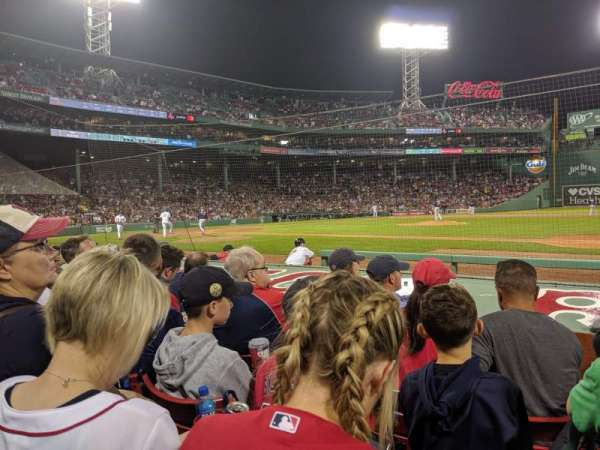 Fenway Park, section: Field Box 24, row: G, seat: 4