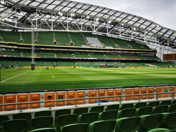 Aviva Stadium, section: 108, row: F, seat: 1
