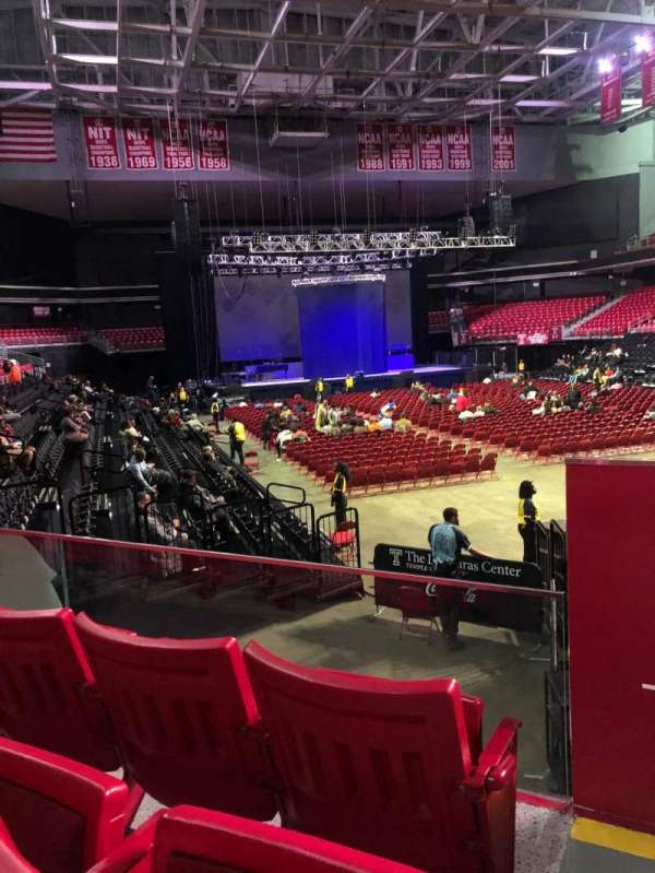 Liacouras Center, section: 110, row: N, seat: 1