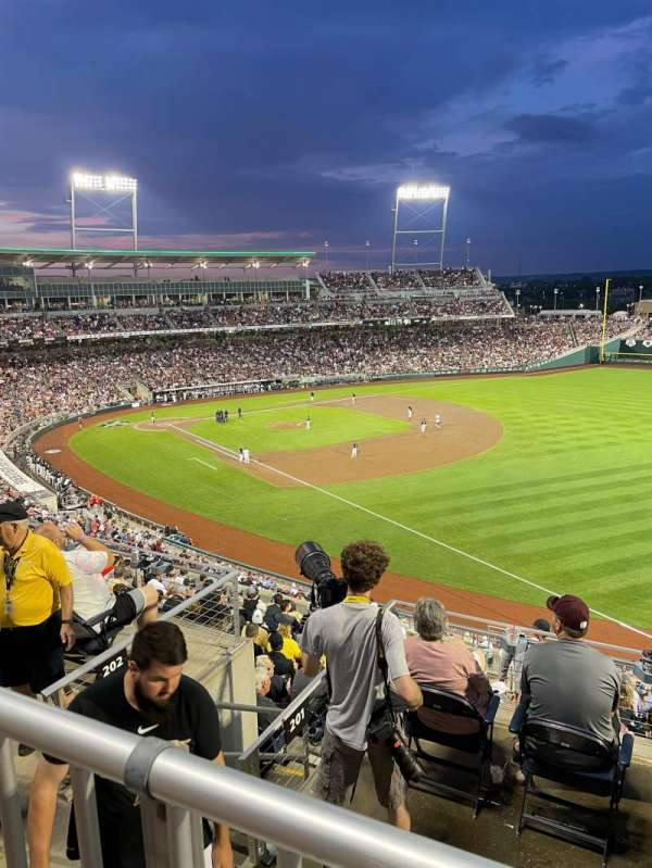 TD Ameritrade Park, section: 301, row: A, seat: 10