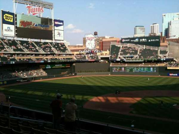 Target Field, section: M, row: 2, seat: 8