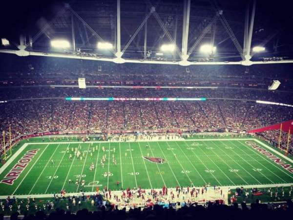 University of Phoenix Stadium, section: 414, row: 21, seat: 12