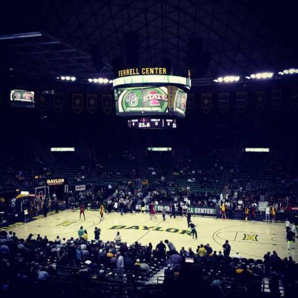 Ferrell Center, section: 124, row: 23