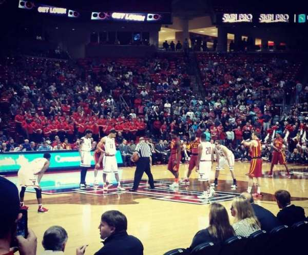 United Supermarkets Arena, section: 103, row: 3, seat: 18