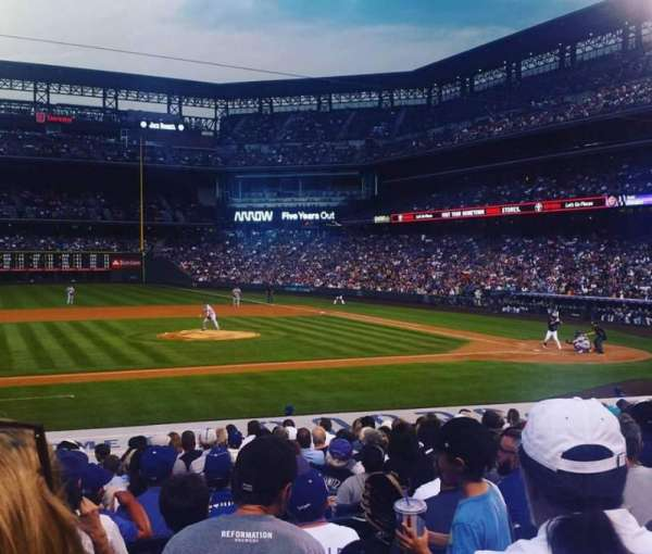 Coors Field, section: 138, row: 20, seat: 11