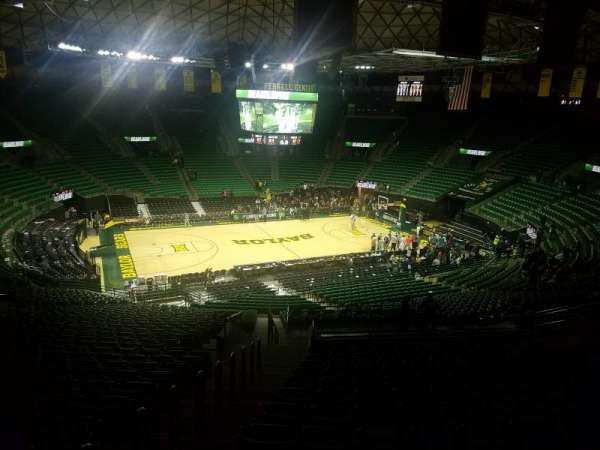 Ferrell Center, section: 114, row: 34, seat: 21
