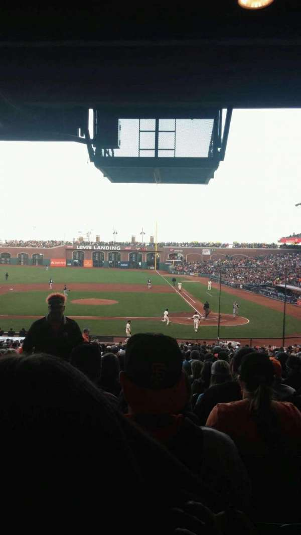 Oracle Park, section: 121, row: 37, seat: 16