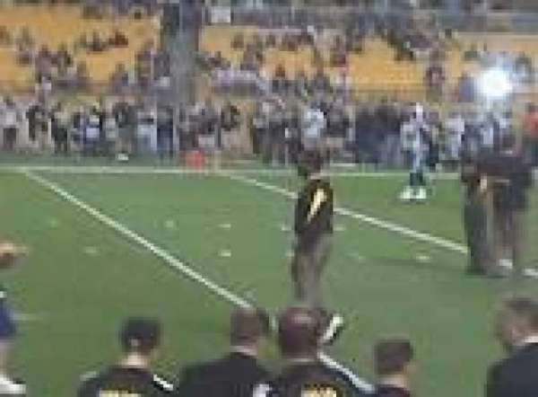 Heinz Field, section: 110, row: 25, seat: 7
