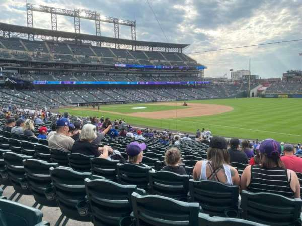 Coors Field, section: 117, row: 28, seat: 1
