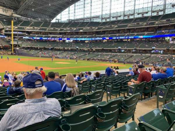 Miller Park, section: 124, row: 17, seat: 5