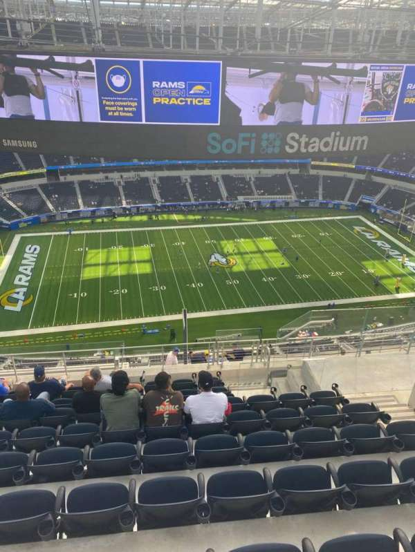SoFi Stadium, section: 538, row: 9, seat: 12