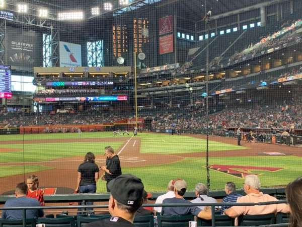 Chase Field, section: L, row: F, seat: 9