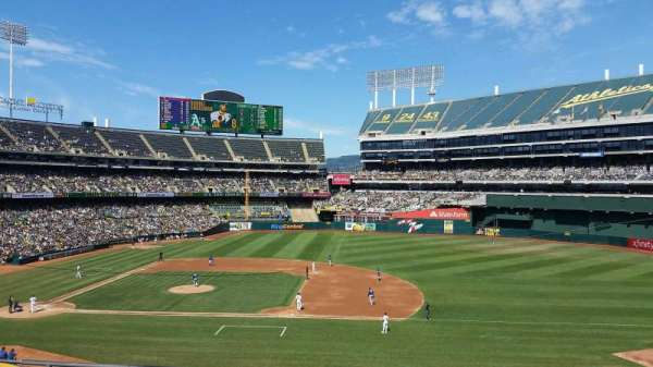 Oakland Coliseum, section: 211, row: 5, seat: 11