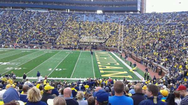 Michigan Stadium, section: 42, row: 35, seat: 24