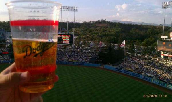 Dodger Stadium, section: 18RS, row: AA, seat: 14-17