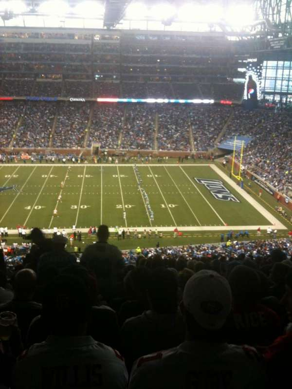 Ford Field, section: 333, row: 18, seat: 4