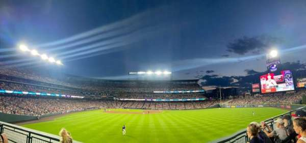 Coors Field, section: 106, row: 4, seat: 1