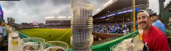 Wrigley Field, section: Hornitos, row: 1, seat: 3