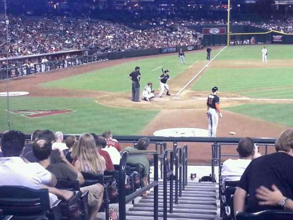 Chase Field, section: 118, row: 21, seat: 7