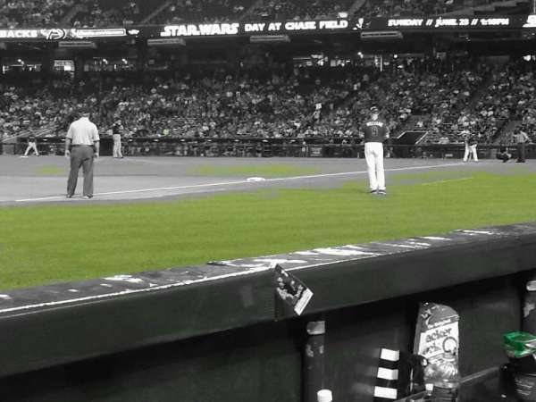Chase Field, section: S, row: B, seat: 14