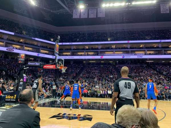 Golden 1 Center, section: 3, row: 2, seat: 11