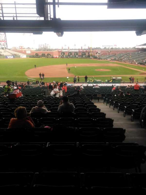 Oracle Park, section: 124, row: 36, seat: 3