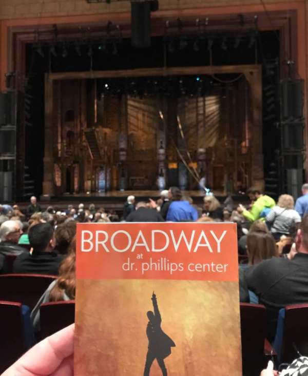 Walt Disney Theatre - Dr. Phillips Center, section: Lower Orchestra Center, row: P, seat: 115