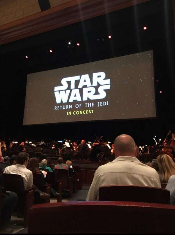 Walt Disney Theatre - Dr. Phillips Center, section: Lower Orchestra R, row: G, seat: 2