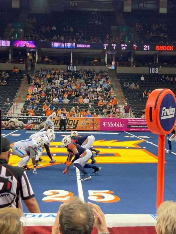 Spokane Arena, section: 116, row: D