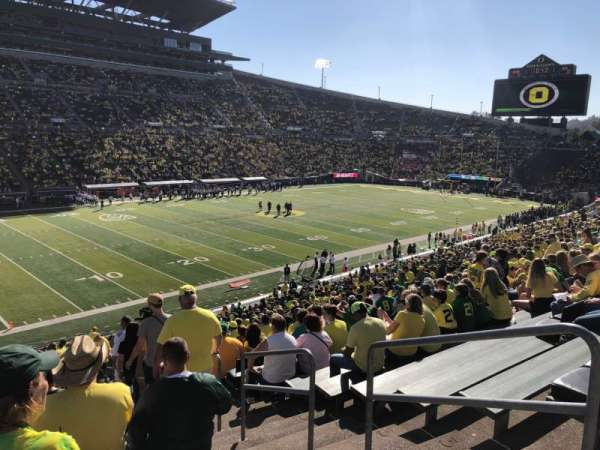 Autzen Stadium, section: 16, row: 42, seat: 1