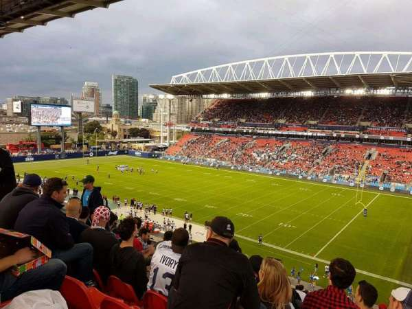 BMO Field, section: 220, row: 20, seat: 9