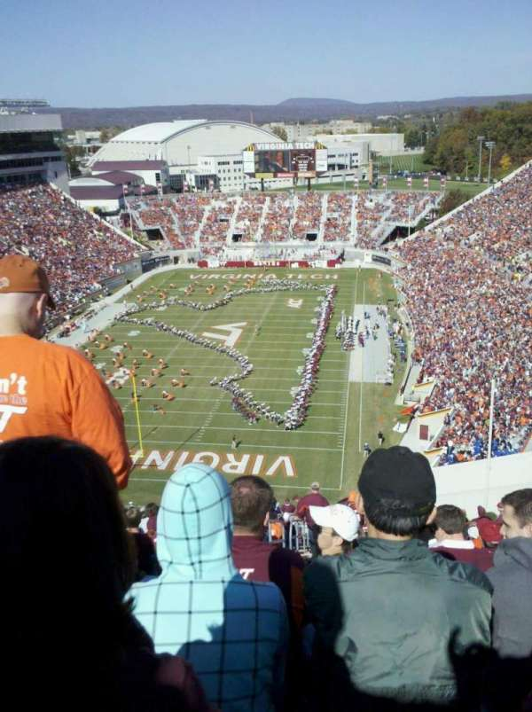 Lane Stadium, section: 503, row: DD, seat: 23