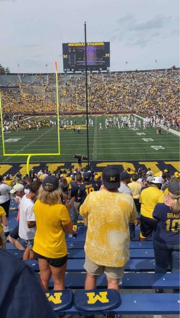 Michigan Stadium, section: 11, row: 34, seat: 1