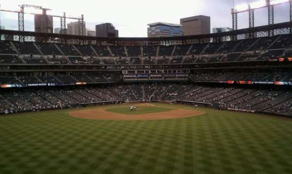 Coors Field, section: 402, row: 4, seat: 26