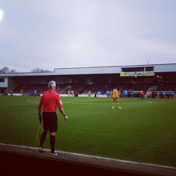 Glanford Park, section: East Stand, row: B, seat: 62