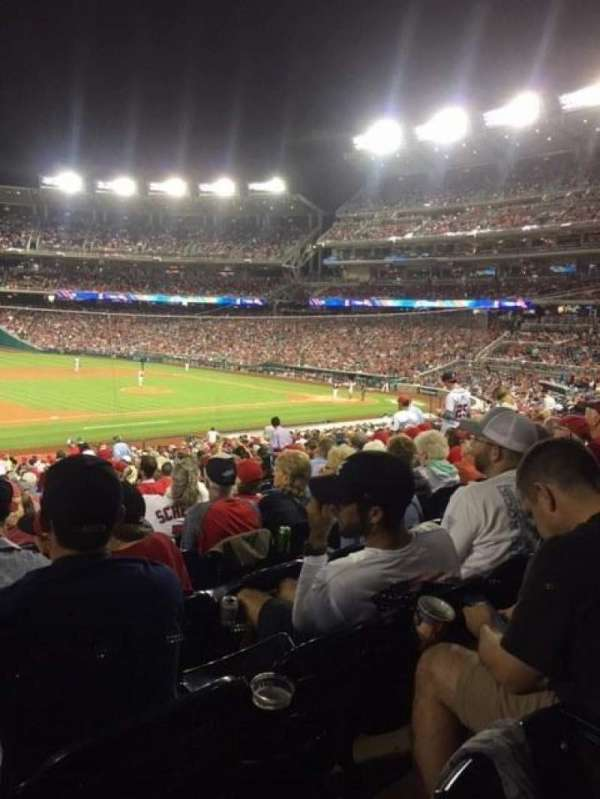 Nationals Park, section: 114, row: NN, seat: 19