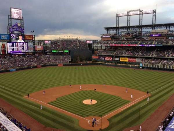 Coors Field, section: L331, row: 5, seat: 9