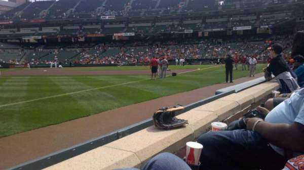 Oriole Park at Camden Yards, section: 64, row: 1, seat: 4