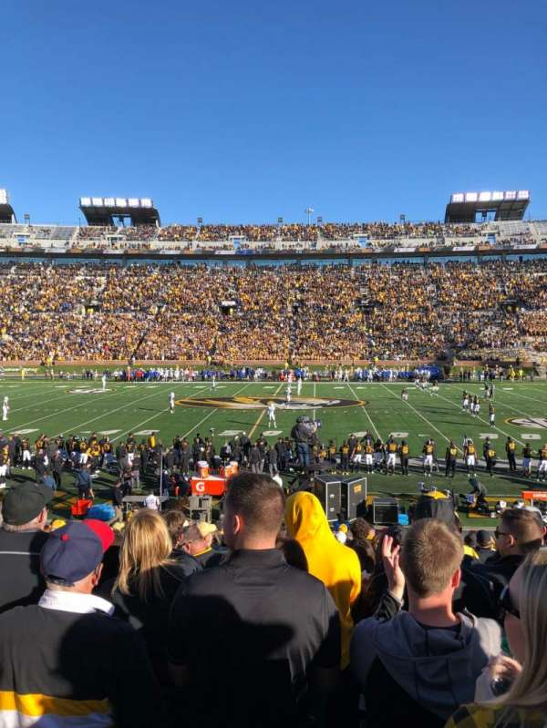 Faurot Field, section: 121, row: 21, seat: 20