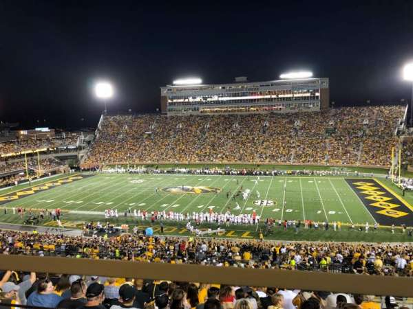 Faurot Field, section: 213, row: 1, seat: 3