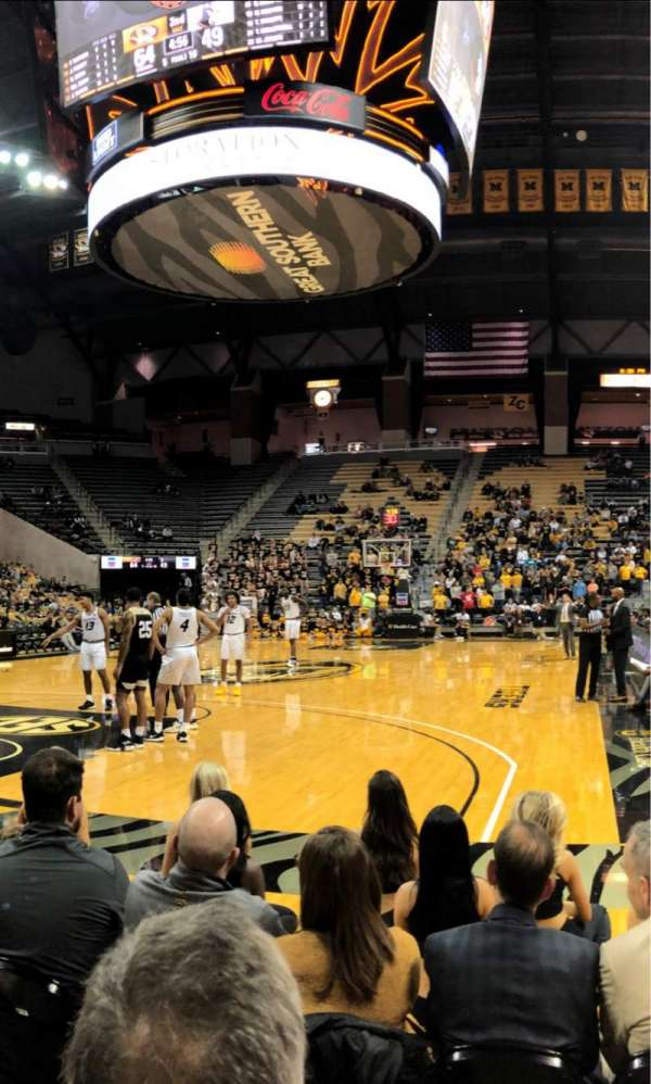 Mizzou Arena, section: 111, row: 4, seat: 5