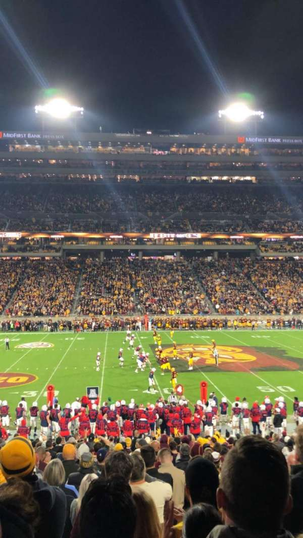 Sun Devil Stadium, section: 30, row: 27, seat: 8