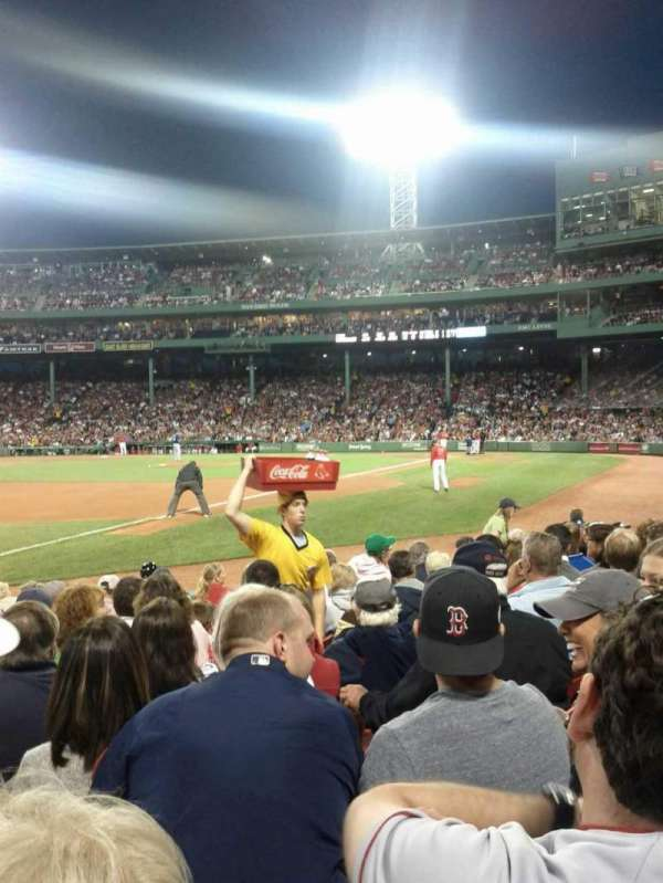 Fenway Park, section: Field Box 73, row: D, seat: 2