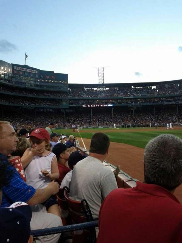 Fenway Park, section: Right Field Box 5, row: G, seat: 12