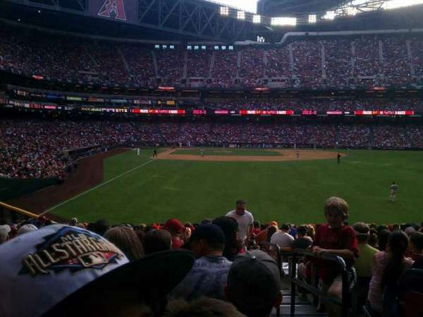 Chase Field, section: 105, row: 32, seat: 1