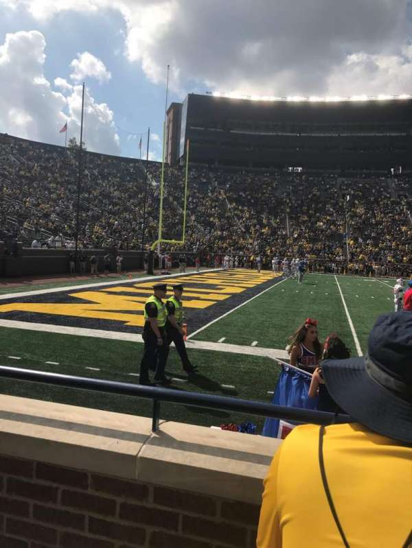 Michigan Stadium, section: 4, row: B, seat: 9