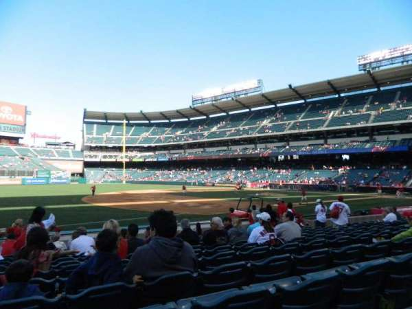Angel Stadium, section: F109, row: M, seat: 2