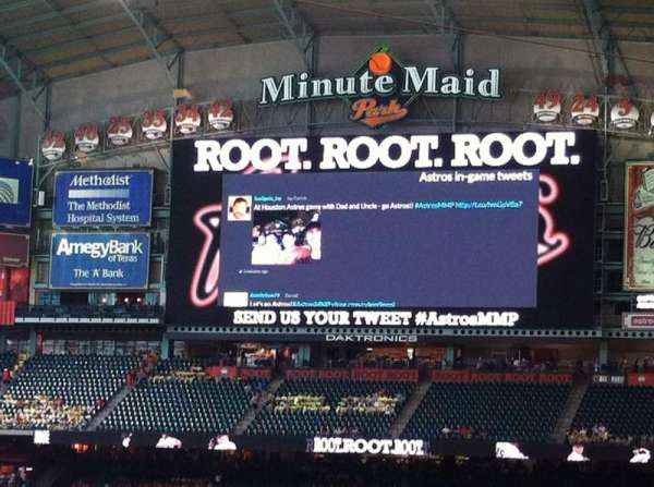 Minute Maid Park, section: 114, row: 32, seat: 3